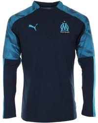 PUMA T-shirt OM 1/4 Zip Training Top - Bleu