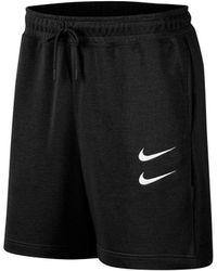 Nike Korte Broek Swoosh - Zwart