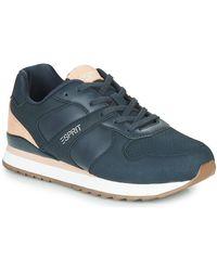 Esprit Lage Sneakers Ambro Lu - Blauw