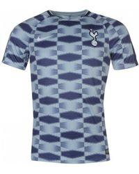 989fc9ada Nike - 2017-2018 Tottenham Pre-match Training Shirt Men s T Shirt In Blue