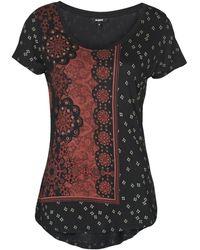 Desigual T-shirt Korte Mouw Estambul - Zwart