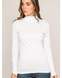 Dona X Lisa Sous pull col roulé pur coton organique FUSEE Pull - Blanc