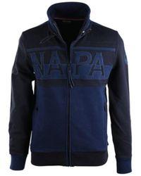 Napapijri BANLY STAND GIACCHETTO BLU Sweat-shirt - Bleu