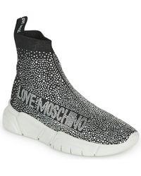 Love Moschino Zapatillas altas BASKA - Metálico