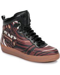 Roberto Cavalli Hoge Sneakers 8343 - Bruin