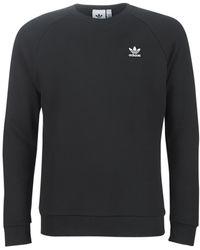 adidas Sudadera cuello redondo Trefoil Essentials LOUNGEWEAR - Negro