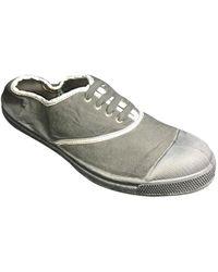 Bensimon Tennis à Lacets Shinny Piping Carbone femmes Chaussures en Gris