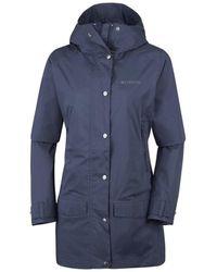 Columbia Rainy Creek Women's Coat In Multicolour - Blue
