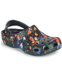 Crocs™ Zuecos CLASSIC PRINTED FLORAL CLOG - Negro