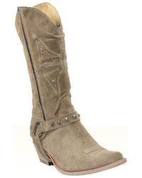 Sancho Boots - Santiag en cuir vachette ref_san27591-beige Bottes en Beige - Lyst