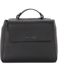 Orciani - Sveva Small Black Tumbled Leather Handbag Women's Shoulder Bag In Black - Lyst