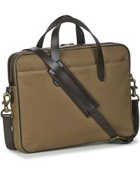 Polo Ralph Lauren Aktetas Commuter-business Case-canvas - Bruin