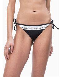 Calvin Klein Tie Slip bikini Donna - Nero