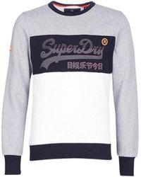 Superdry Sweatshirt VINTAGE LOGO PANEL CREW - Grau
