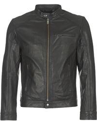 SELECTED - Shntylor Men's Leather Jacket In Black - Lyst