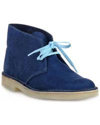 Clarks Boots DESERT BOOT NAVY - Bleu