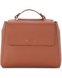 Orciani - Sveva Small Tobacco Tumbled Leather Handbag Women's Handbags In Brown - Lyst