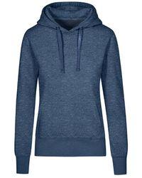 Promodoro Sweat Capuche X.O Femmes Sweat-shirt - Bleu