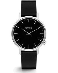 Komono Horloge - Harlow Black Silver - Zwart
