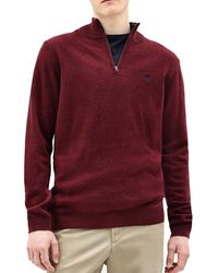 Timberland MAGLIONCINO CON ZIP BORDEAUX Pull - Rouge