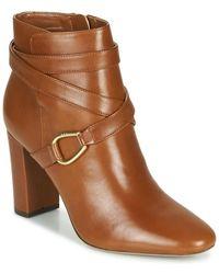 Lauren by Ralph Lauren Enkellaarzen Addington-boots-dress - Bruin