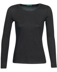 Benetton T-shirt Lange Mouw Nolan - Zwart