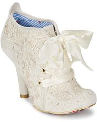 Irregular Choice Enkellaarzen Abigails Third Party - Wit