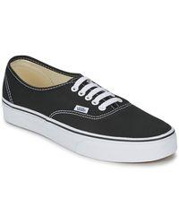 Vans Lage Sneakers Authentic - Zwart