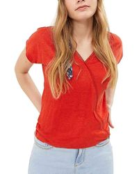 I Code Tee Shirt Manches Courtes Col V T-shirt - Rouge