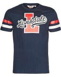 Lonsdale London T-shirt Korte Mouw Framlingham - Blauw