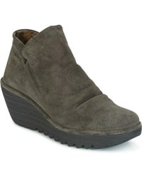Fly London - Yip Women's Mid Boots In Grey - Lyst