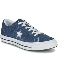 Converse Lage Sneakers One Star Og - Blauw