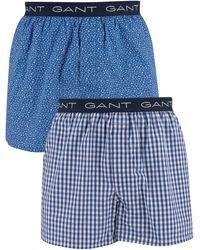 GANT Boxers Lot de 2 boxers tissés - Bleu