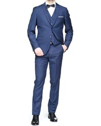Jean Louis Scherrer Costume 3 pièces hommes Costumes en bleu