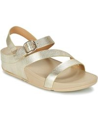 Fitflop - The Skinny Zcross Sandal Women's Sandals In Gold - Lyst