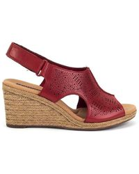 Clarks Lafley Rosen Women's Espadrilles / Casual Shoes In Red