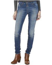 Please Jean Regular Slim Delavee Jeans - Bleu