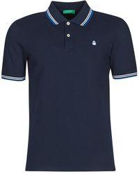 Benetton Polo Shirt Korte Mouw David - Blauw