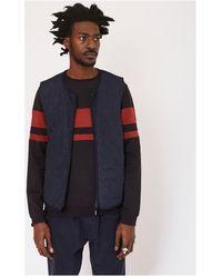 The Idle Man - Cut Sew Stripe Sweatshirt Black Men's Jumper In Black - Lyst