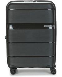 American Tourister Linex Spinner 66 Cm Tsa Hard Suitcase - Black