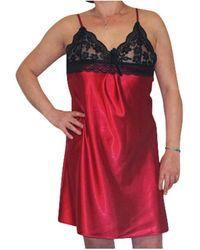 Chapeau-Tendance Nuisette avec dentelle Pyjamas / Chemises de nuit - Rouge