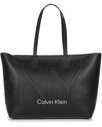 Calvin Klein Boodschappentas Ck Must Psp20 Med Shopper Ny - Zwart