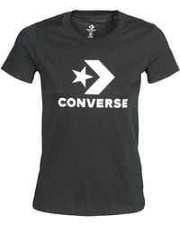 Converse Camiseta STAR CHEVRON TEE - Negro