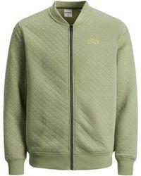 Jack & Jones Sweatshirt 12187909JCOCUT SWEAT ZIP BASEBALL OIL GREEN - Grün