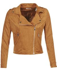 Moony Mood - Fenci Women's Leather Jacket In Brown - Lyst