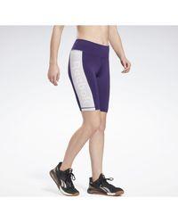 Reebok Short Pantalón corto Linear Logo Fitted - Morado