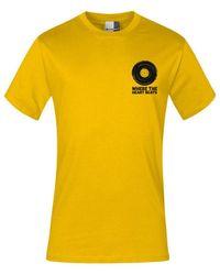 """Promodoro Print """" heart beats"""" T-shirt premium Hommes T-shirt - Jaune"""