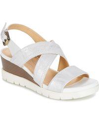 8fc85d80f92 Geox - Marykarmen P.b Women s Sandals In White - Lyst