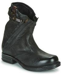 A.s.98 Boots SAINT METAL ZIP - Noir