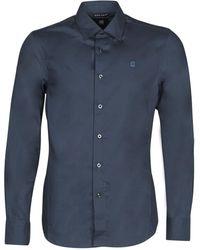 G-Star RAW Camicia A Maniche Lunghe Dressed Super Slim Shirt Ls - Blu